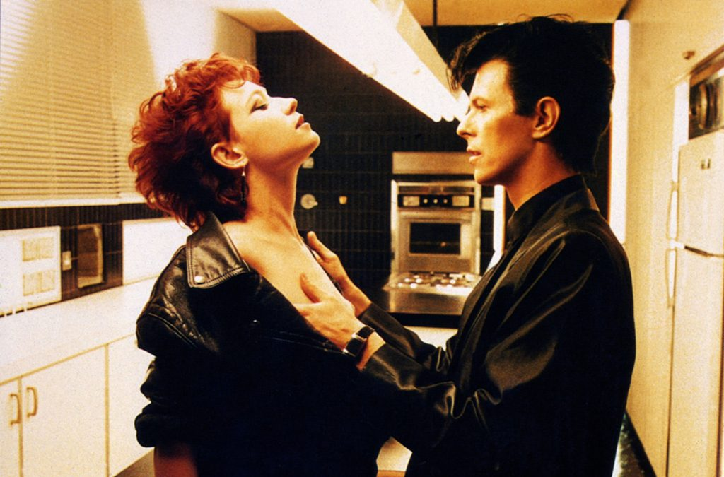 David Bowie and Ann Magnuson in The Hunger